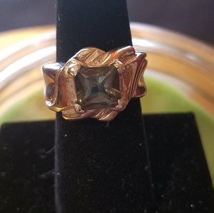 Jewelry - 925 vintage ring /princess cut green termalin